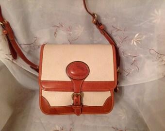 Vintage Dooney Bourke AWL Tan Beige Small Surrey Fashionable Shoulderbag  Classic Stylish Wear