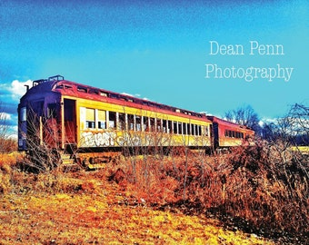Train Photo, Train Photography, Train Wall Decor, Trains, Train Wall Art, Train Pictures, Abandoned Train Photography