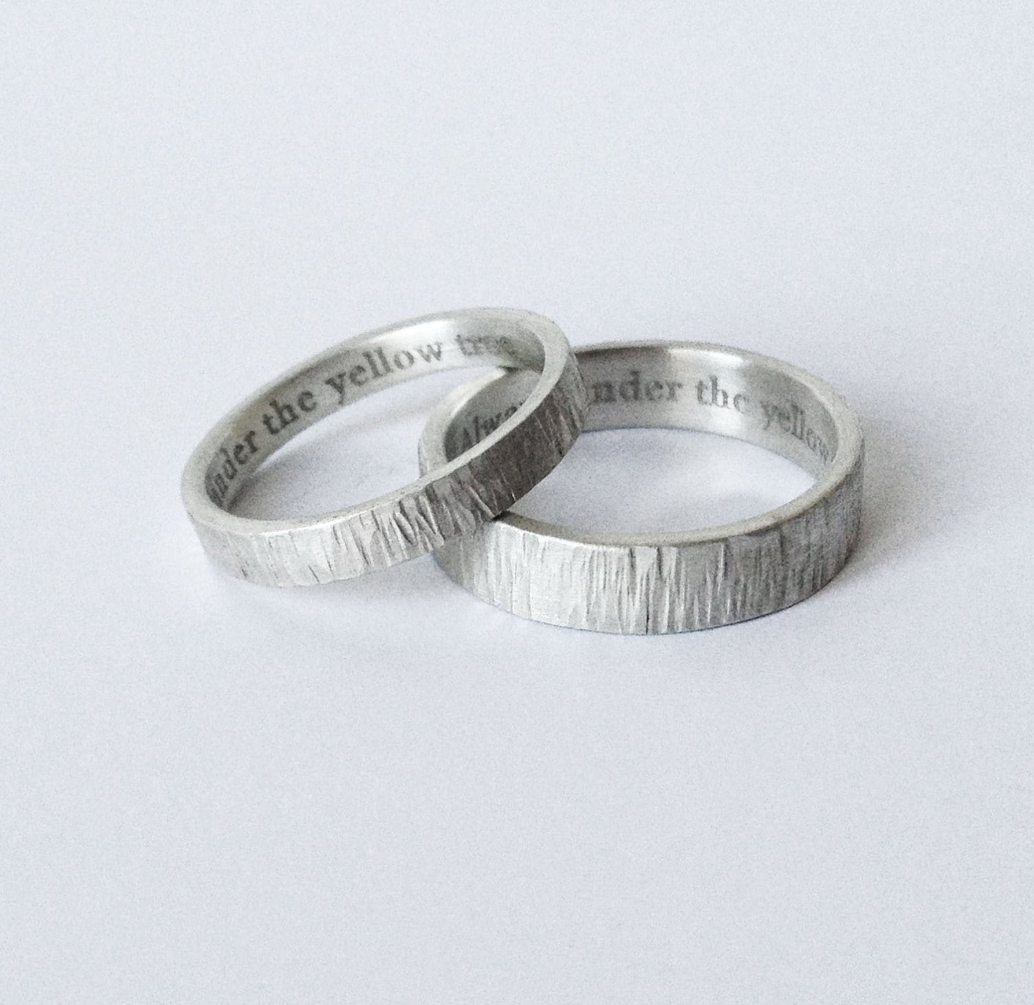 Simplistic Bands: Simple Engraved Wedding Rings Engraved Bands Wedding Ring