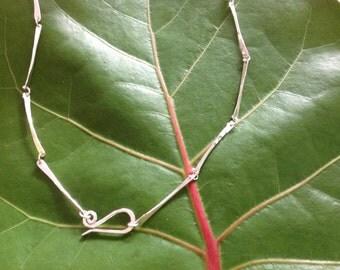 Sterling Silver Dog Bone Necklace