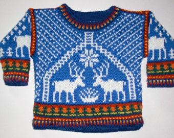 Knitting Pattern: Reindeer Size One Year