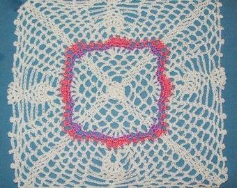 Square Pineapple Doily Handmade Crochet Cotton Doily