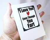 Funny Fart Card. Funny Greeting Card for Him. Fart Card. Fun Cards for Boyfriends - Funny Magnet. MT047