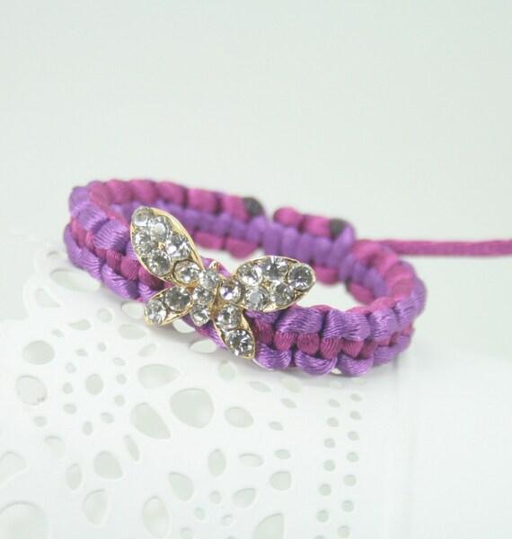 Butterfly macromate wristband