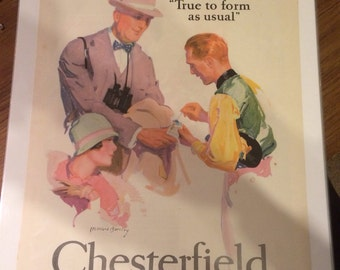 1926 McClelland Barclay Chesterfield cigarettes print ad