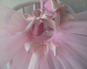 Pink Baby Ballet Shoes and Tutu . Infant Ballet Slippers Flats . Baby Ballerina . Baby Girl Shoes