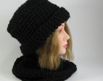 Black Cloche Derby Hat
