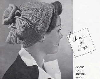 Hats Gloves Stoles Vintage 1940s Knitting Patterns Book Patons 389 ORIGINAL paper patterns not PDF