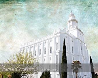 St. George Utah LDS Temple - Landscape 1- Instant DIGITAL DOWNLOAD - Large Temple Print