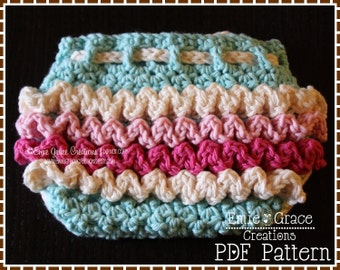 Crochet Ruffled Diaper Cover Pattern, 3 Sizes from Newborn to 6-12 Mo, KENNEDY - pdf 710