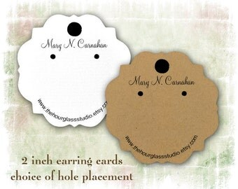 Earring Card Jewelry Display 032 Personalized Label Hang Tag   Printed Label Earring display Custom