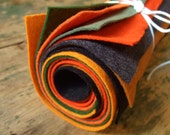 The Jack-o-Lantern Collection - 8 Sheets of Felt - 9x12 Wool Felt Sheets