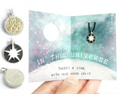 IN THIS UNIVERSE - Personalised Sun / Supernova / Star engraved charm, jewelry, necklace, twinkle little star, tiny, nebula, night sky, ring
