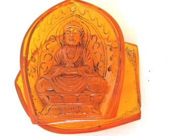 Vintage Amber Double Sided Buddha Shrine For Your Meditation