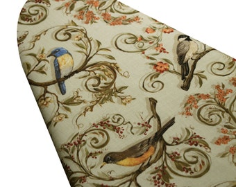 Ironing Board Cover with ELASTIC AROUND EDGES made with Nestled in the Branches select the size