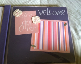 BABY GIRL 8x8  Scrapbook Pages - PREMADE