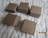 1 Inch Chipboard Square Die Cuts - Square Blanks -Unfinished - Decoration-Raw Chipboard Small Square Shapes