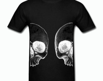 Skull Duality Black Tee Shirt