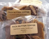 Buttery English Toffee with milk chocolate - Gluten Free - 4.5 Ounces
