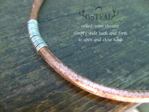 Custom For Dominique - 3 inch copper hoops, hammered