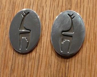 Sterling Silver Petrogyiph Earrings
