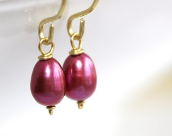 Mulberry Pearl Earrings - 'Overreactive Psychologist'