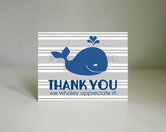 WHALE Printable Thank You Card- Instant Download