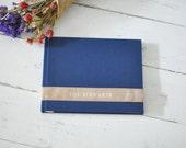 Custom Handmade Wedding Album, a Meaningful Keepsake Photo Album - Velvet Sash design by ClaireMagnolia
