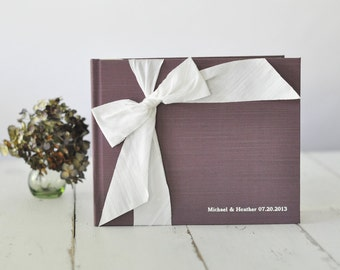 Photo Albums - Unique Guest Book - Silk Dupioni Bow by Claire Magnolia