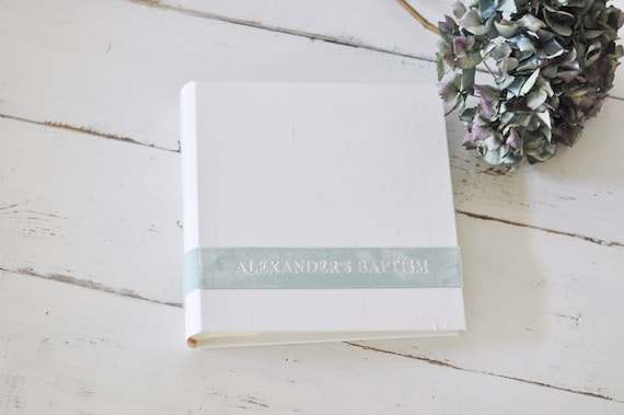 Personalized Photo Book, a Meaningful Handmade Photo Album - Velvet Sash design by ClaireMagnolia