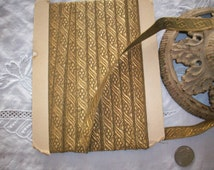 1 yard of french antique gold trim, made of real metal, more avail.