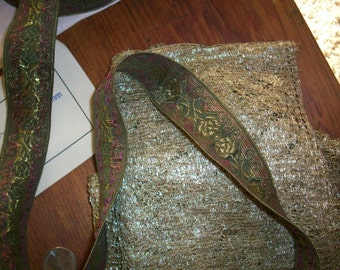 1 yard of antique dark gold trim,  yardage available
