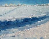 Winter Snow Painting - Dutch Snow Painting - Original Oil Painting - Dutch Landscape - Dutch Winter Painting - Netherlands Snow Oil Painting