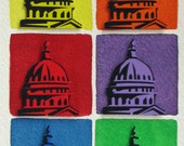 US Capitol original 3D collage - muticolor - 8x10