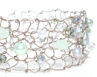 mint wedding mint bridesmaid gift mint green bracelet mint cuff bracelet mint jewelry mint green wedding jewelry