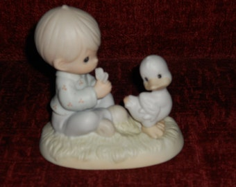 "Precious Moments Figurine-""Friends To The Very End""-1993"