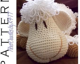 INSTANT DOWNLOAD : Pillow Pal Lamb Crochet Pattern