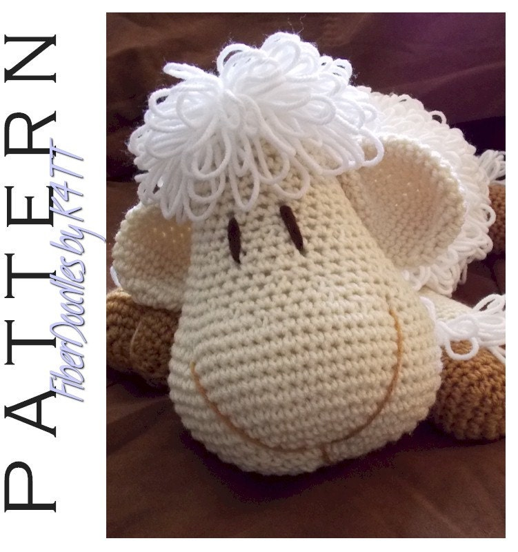 INSTANT DOWNLOAD : Pillow Pal Lamb Crochet Pattern