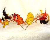 Autumn crown in copper, wedding circlet, wedding accessories, handmade crown