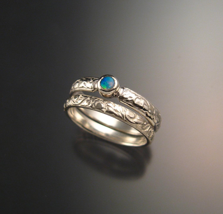 gallery photo gallery photo gallery photo - Opal Wedding Ring Sets