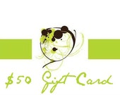 Gift Certificate 50 (dollars)- Valid for the entire Element Boutique Etsy Shop- No Expiration Date