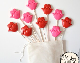 Set of 10 Plastic Smile Props on Sticks - Photo Booth Props