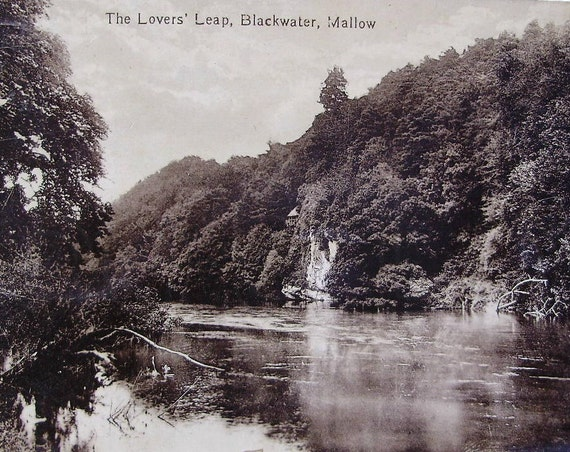 Mallow Ireland  city pictures gallery : Lovers Leap, Blackwater, Mallow, Ireland Antique Postcard