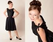 Vintage 1960s Lanz Silk Dress Little Black Dress Cocktail Fashions