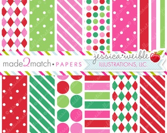 Christmas Candy Cute Digital Papers Backgrounds for Personal and Commercial Use, Christmas Patterns Christmas Backgrounds