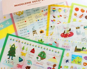 Madeleine Stickers - 7 sheets (4.3 x 6.7in)