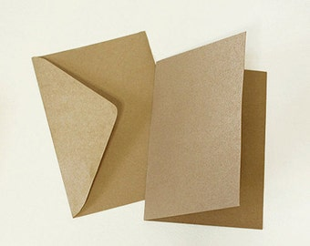 10 Basic Kraft Envelopes & 10 Hard Paper for Making Cards (6.5 x 4.5in)