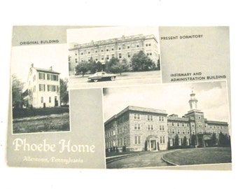 Phoebe Home in Allentown, PA 1950s Postcard