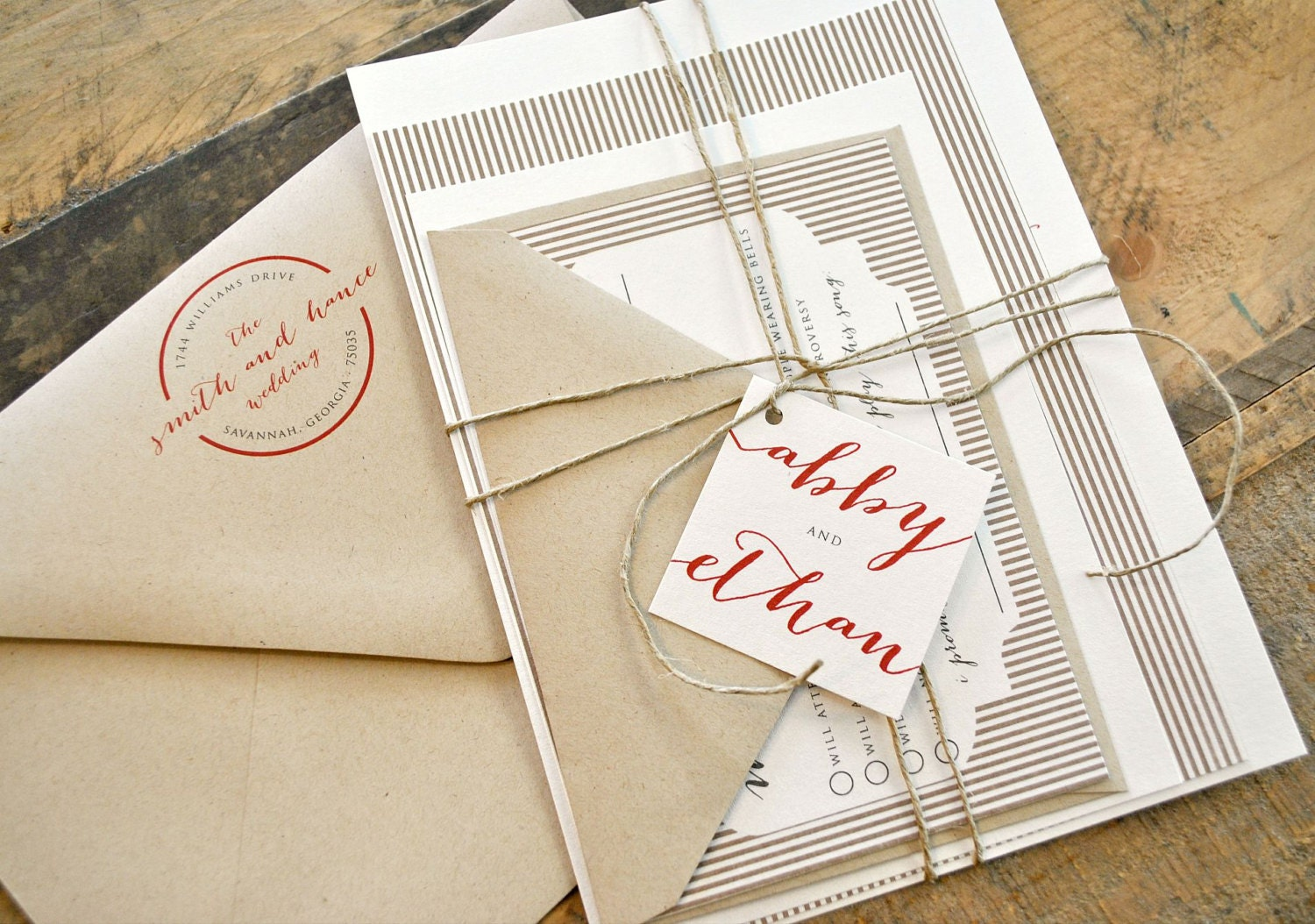 how to tie wedding invitations with twine - 28 images - astoria ...