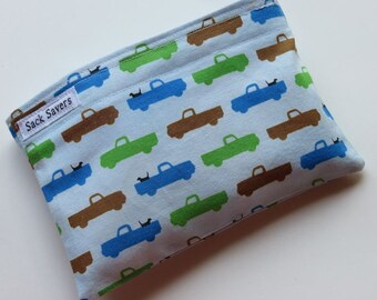 Reusable Snack Bag Eco Friendly Blue Pooches and Pickups